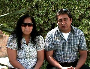 Pais de Kevin Espada, Carola Beltrán Espada e Limbert Beltrán  (Foto: Reprodução SporTV)