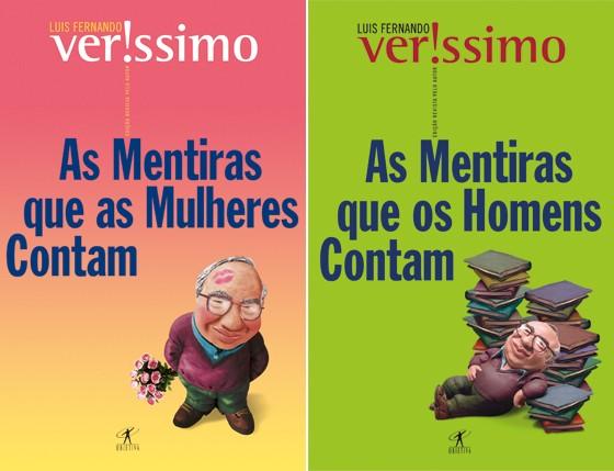 As mentiras que os homens contam e As mentiras que as mulheres contam, de Luis Fernando Verissimo, editora Objetiva (Foto: Reprodução)
