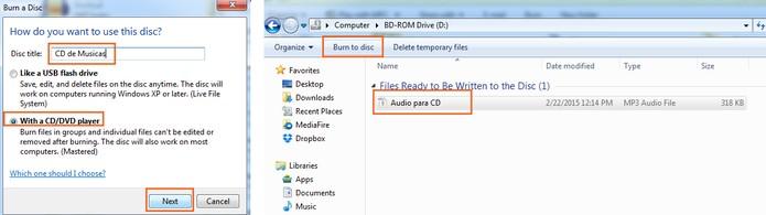 Continue a gravação do MP3 no CD (Foto: Reprodução/Barbara Mannara)