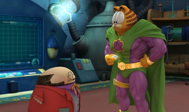 Garfield ganha super poderes em 'Garfield - O Super-Herói Animal' (Foto: Divulgação / Reprodução)