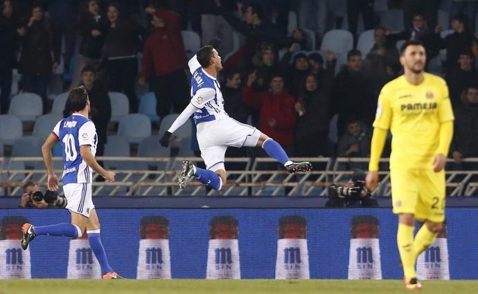 Willian José gol Real Sociedad Villarreal (Foto: EFE)