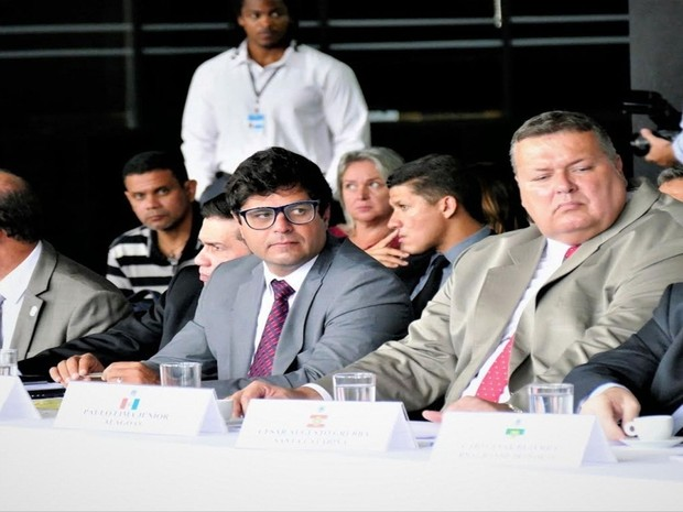Secretários da SSP e Sejuc de Seregipe participam de reuniões em Brasília (DF) (Foto: Roque de Sá)
