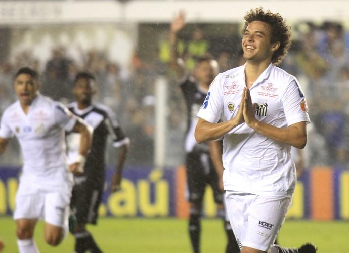 Victor Ferraz gol Santos x Ponte Preta (Foto: Futura Press)