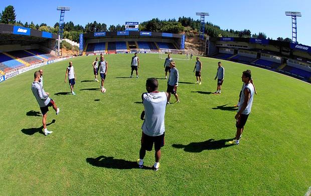 jogadores no treino do Fluminense  em Concepción (Foto: Nelson Perez / Fluminense. F.C.)