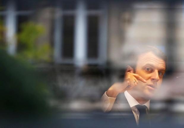 Emmanuel Macron, candidato centrista da França (Foto: Regis Duvignau/Reuters)