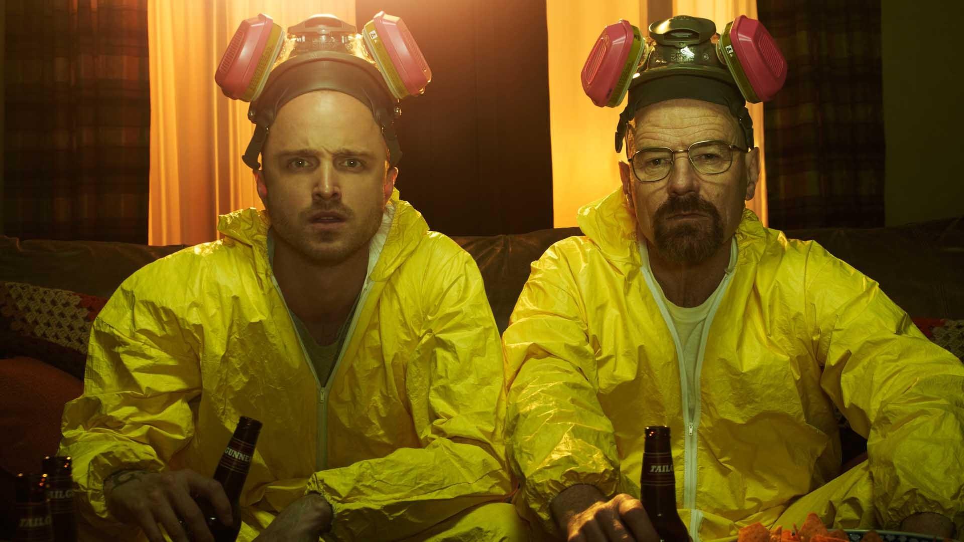 Aaron Paul e Bryan Cranston em 'Breaking Bad' (Foto: Divulgação )