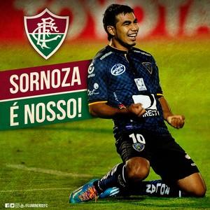 Sornoza Fluminense (Foto: Reprodução Twitter)