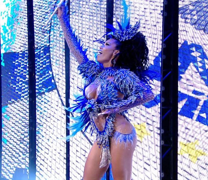 Ariellen Domiciano é a rainha de bateria da Nenê de Vila Matilde no Carnaval 2016 (Foto: Divulgação TV Globo)