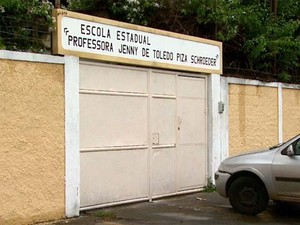 Escola em Ribeirão Preto onde a briga entre as alunas foi gravada (Foto: Reprodução/ EPTV)