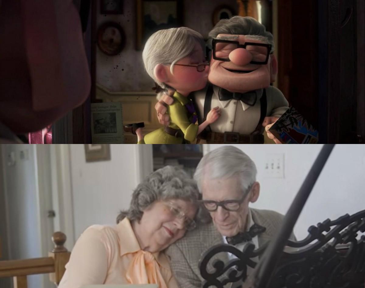 Cena da animação e um carinho dos idosos americanos