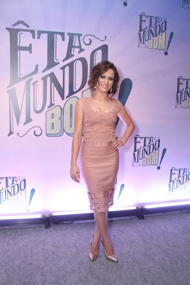 Bianca Bin na festa de lançamento de Êta Mundo Bom (Foto: Thyago Andrade/BrazilNews)