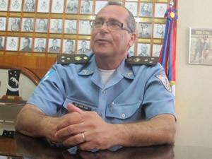 Coronel Erir, comandante da PM (Foto: Marcelo Ahmed/G1)