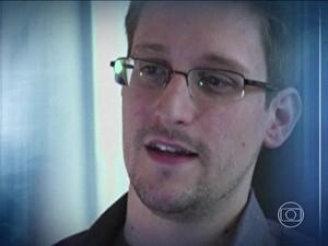 Edward Snowden fala com exclusividade para o Fantástico (Foto: Reprodução)