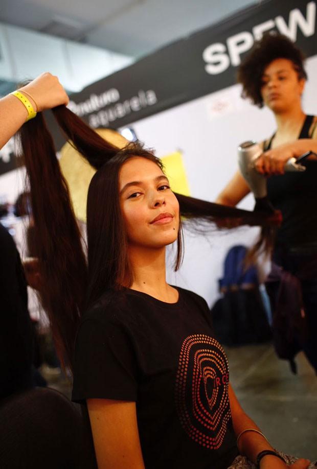 Shaneiva e seu cabelão (Foto: Thiago Bernardes / Ed.Globo)