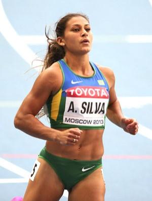 Ana Claudia Lemos Mundial Atletismo moscou (Foto: Agência EFE)