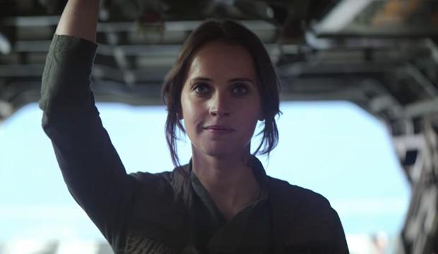 Jyn Erso, a protagonista de 'Rogue One: Uma História Star Wars' (Foto: Divulgação)