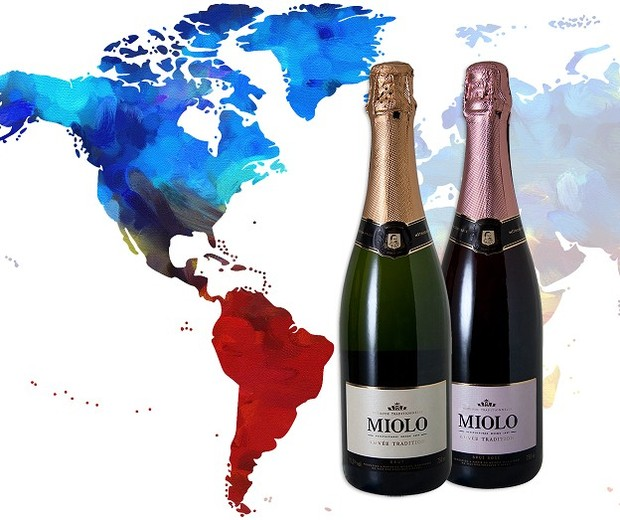 Miolo Cuvée Tradition Brut (Melhor Espumante) e o Miolo Cuvée Tradition Brut Rosé (Melhor Espumante Rosé) (Foto: Divulgação)