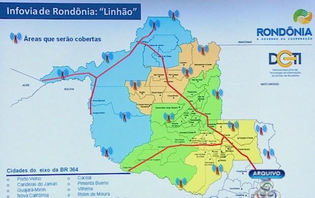 Infovia já está em processo de montagem em Porto Velho (Foto: Bom Dia Amazônia)