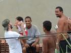 David Beckham grava no Morro do Vidigal, Zona Sul do Rio
