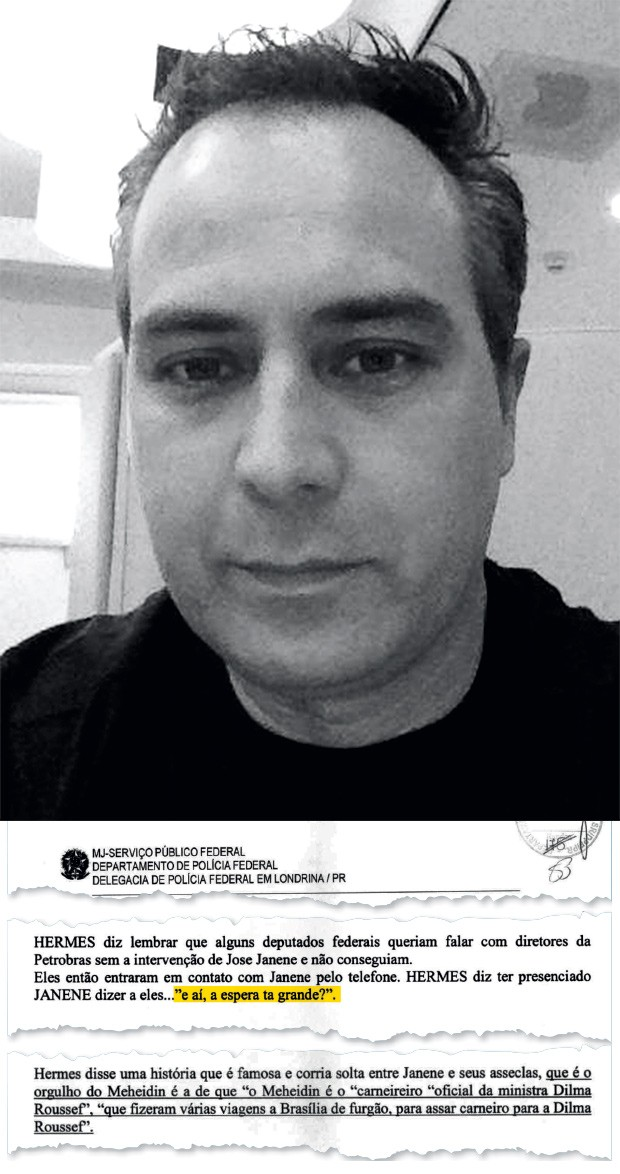DEBOCHE O empresário Hermes Magnus. Segundo ele, Janene zombava de deputados que procuravam diretores da Petrobras sem sua intermediação (Foto: Reprodução)