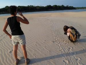 Turistas durante passeio no Parque Estadual do Cantão (Foto: Eder Edras/Arquivo pessoal)