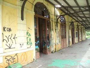Trem de passageiros não chega mais a Estação Ferroviária de Paranaguá (Foto: Cristiano  Arajara da Rosa/ Arquivo pessoal)