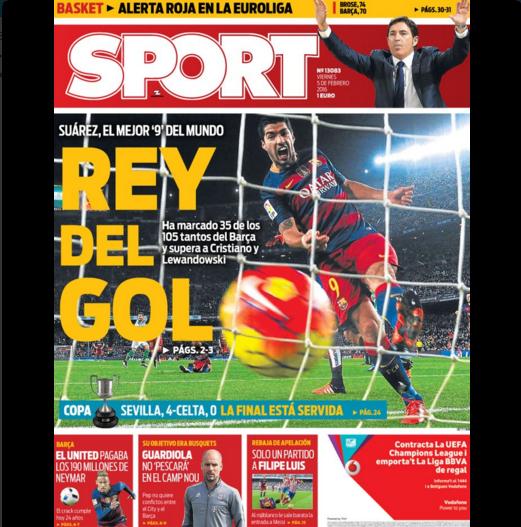 BLOG: Jornal diz que Suárez supera CR7 e Lewandowski e é o melhor 9 do mundo