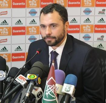 Mário Bittencourt entrevista Fluminense (Foto: Gustavo Rotstein)