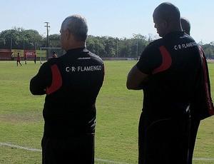 seguranças Treino do Flamengo (Foto: Janir Júnior / Globoesporte.com)