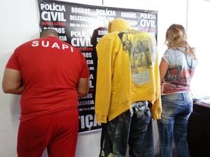 Prisão de suspeitos de assalto a agência de pagamento de Juiz de Fora (Foto: Nathalie Guimarães/G1)
