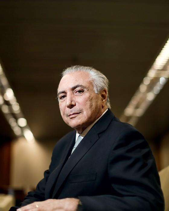 Michel Temer na vice-presidência em Brasilia, no dia  11 (Foto: GABRIELA BILó/ESTADÃO CONTEÚDO)