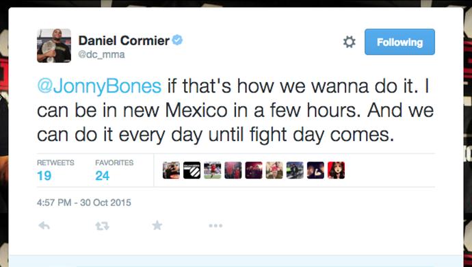 Daniel Cormier twitter Jon Jones