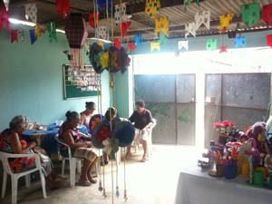 Algumas das integrantes do grupo de senhoras que participou de uma das edições do Chá de Memória. (Foto: Rivângela Gomes/G1)