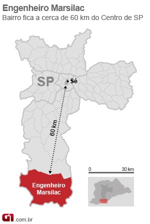 mapa marsilac (Foto: Arte/G1)