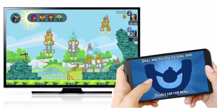 Angry Birds Friends e outros games podem ser transmitidos para a TV com Chromecast (Foto: Divulgação)
