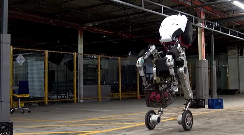 Handle: robô da Boston Dynamics faz acrobacias (Foto: Reprodução )