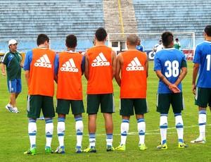 Gilson Kleina no treino do Palmeiras (Foto: Marcelo Hazan)