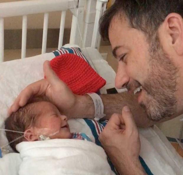 Jimmy Kimmel com William (Foto: Reprodução)