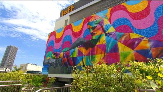 Kobra está em Tóquio para homenagear a olimpíada do Rio