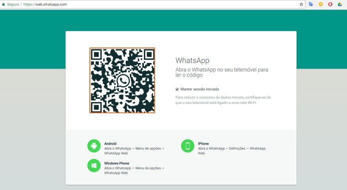 Acesse o WhatsApp Web pelo computador (Foto: Reprodução/Barbara Mannara)