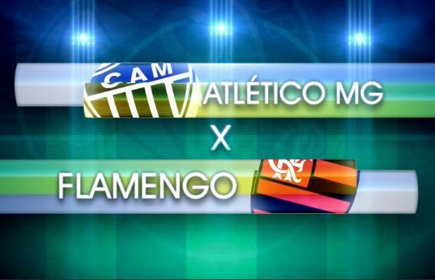 Atlético MG X Flamengo (Foto: Reprodução/ TV Globo)