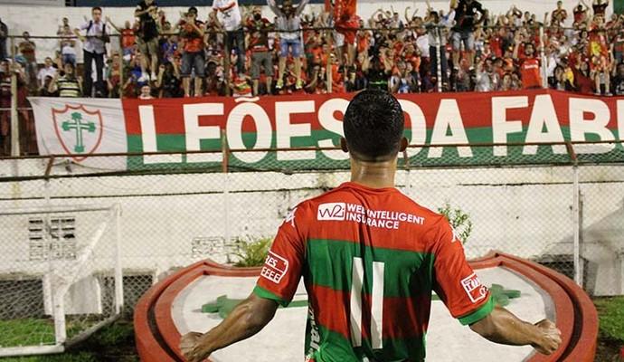 Gustavo Tocantins atacante Portuguesa (Foto: Dorival Rosa / Portuguesa)