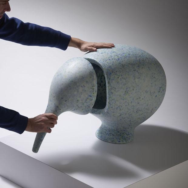 Marca da Antuérpia lança móveis para crianças feitos de brinquedos reciclados (Foto: Divulgação)