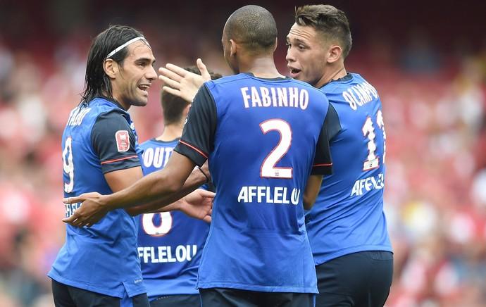 Fabinho e Falcao no Mônaco (Foto: Getty Images)