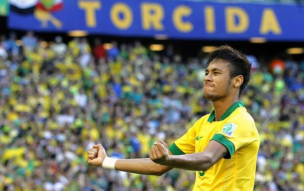 Neymar comemoração gol Brasil México (Foto: EFE)