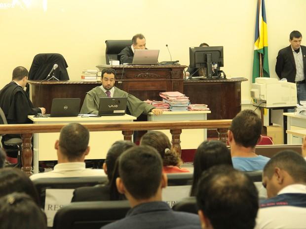 Julgamento Naiara Karine 2016, em Porto Velho, RO (Foto: TJ-RO/Divulgação)