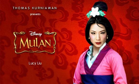 Lucy Liu como Mulan (Foto: Thomas Kurniawan)