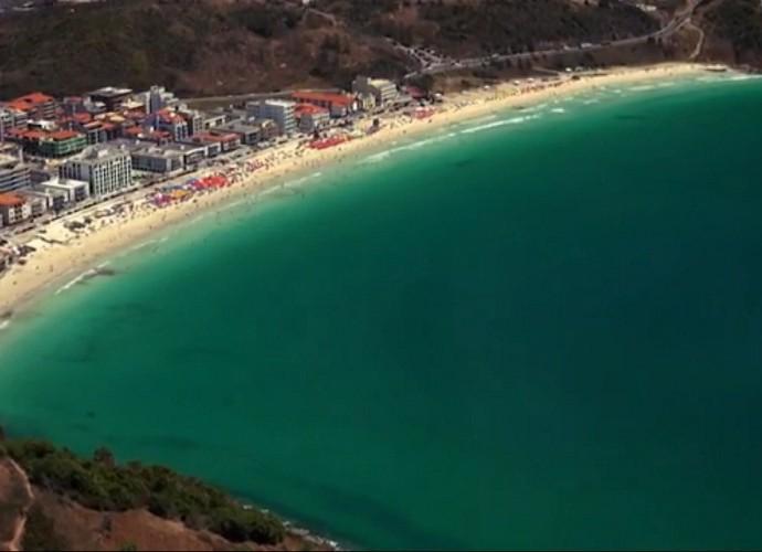 Arraial do Cabo é homenageada no Telão do Domingão (Foto: TV Globo)