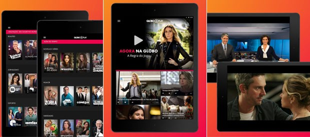 Os tablets no sistema Android também ganham versão do app Globo Play (Foto: Globo)