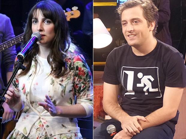 De um lado Clarice Falção no Altas Horas de outro, o amado no Na Moral (Foto: Altas Horas e Na Moral/ TV Globo)
